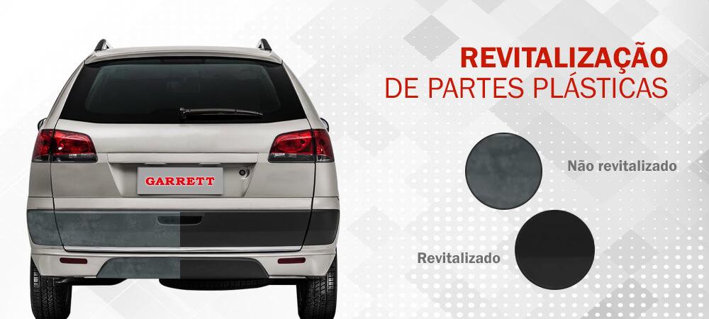 revitalização de partes plásticas de veículos